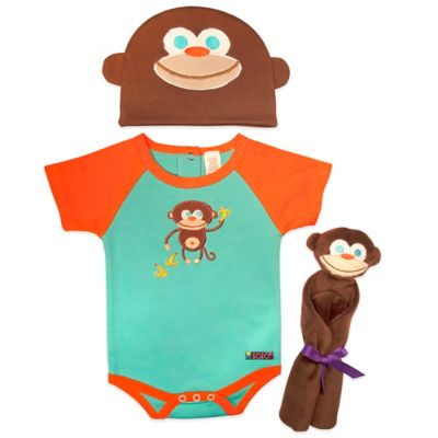 Sozo® 3-Piece Monkey Welcome Home Gift Set in Blue/Orange
