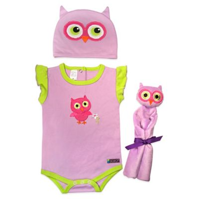 Sozo® 3-Piece Owl Welcome Home Gift Set in Purple/Pink/Green