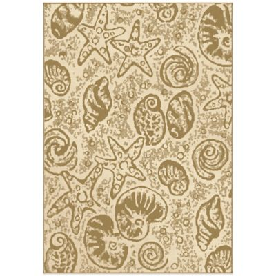 Orian Courtyard Collection Beachcomber 7-Foot 8-Inch x 10-Foot 10-Inch Rug in Natural