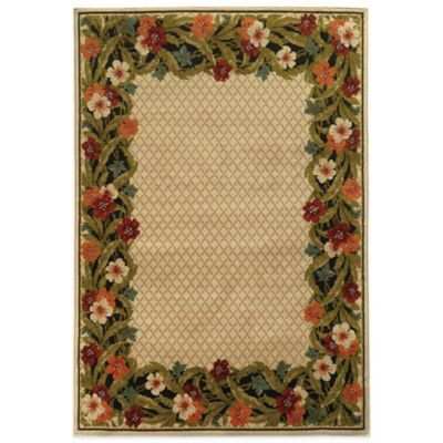 Oriental Weavers Garland Tropical Border 2-Foot 2-Inch x 7-Foot 6-Inch Runner