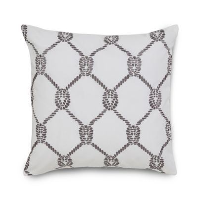 Southern Tide® Breakwater Rope Square Throw Pillow in Nautical Grey