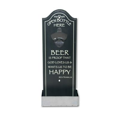 """Happy Beer"" Refreshment Center Bottle Opener Art"