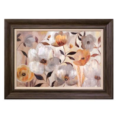 Golden Flowers Wall Art
