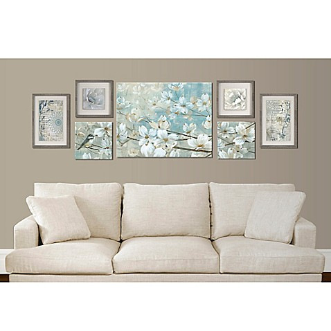 Floral 7 piece wall d cor set bed bath beyond for Beyond the wall mural design