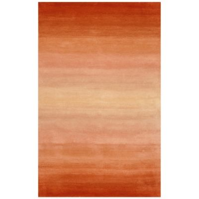 Trans-Ocean Ombre Horizon 3-Foot 6-Inch x 5-Foot 6-Inch Rug in Orange