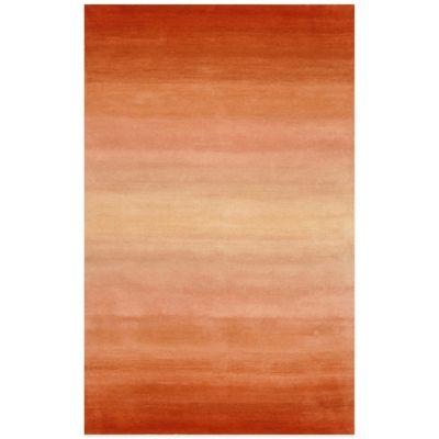 Trans-Ocean Ombre Horizon Rug in Orange