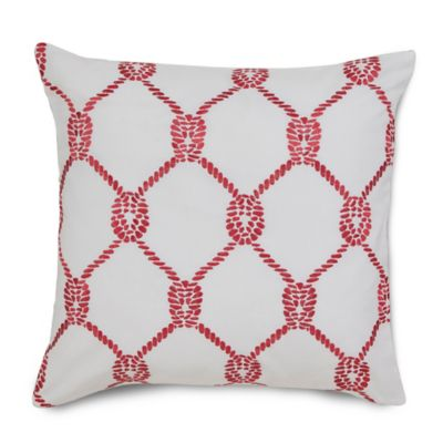 Southern Tide® Breakwater Rope Square Throw Pillow in Vintage Red