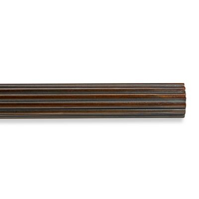 Cambria® Premier Wood Decorative 4-Foot Fluted Drapery Pole in Chocolate