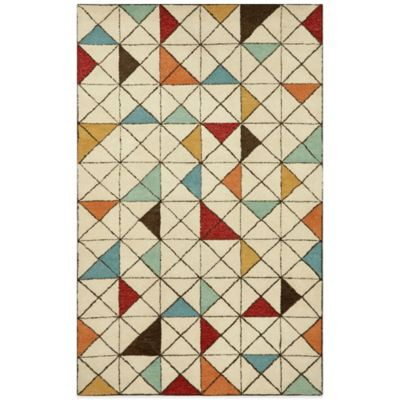 Trans-Ocean Fantasy Triangles 8-Foot x 10-Foot Rug in Grey