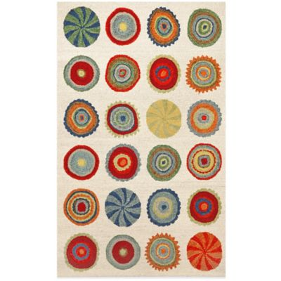 Trans-Ocean Siena Small Pop Circles 3-Foot 6-Inch x 5-Foot 6-Inch Rug in Neutral
