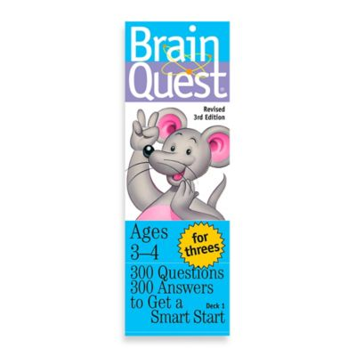 Brain Quest For Threes Question and Answer Game