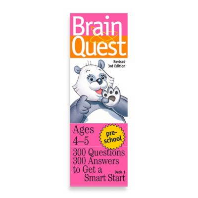Brain Quest Preschool Question and Answer Game