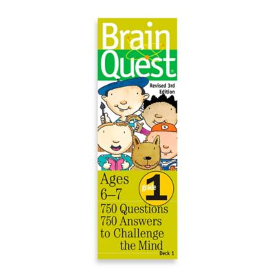 Brain Quest 1st Grade Question and Answer Game