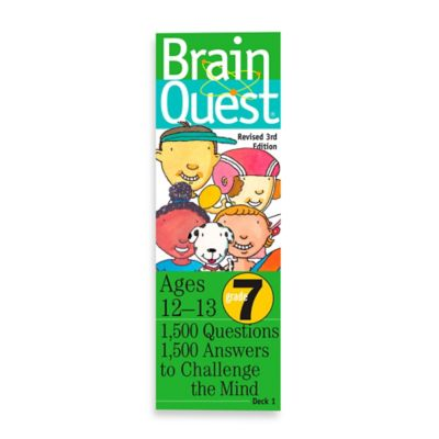 Brain Quest 7th Grade Question and Answer Game