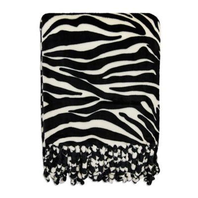 Micro Velvet Super Soft Throw Blanket in Zebra