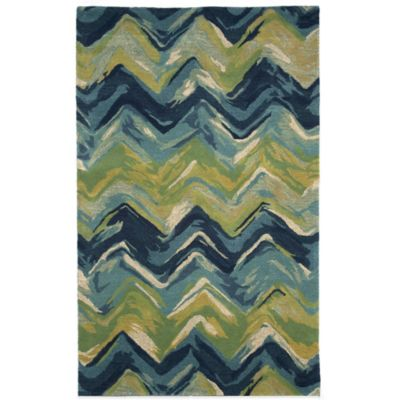 Trans-Ocean Tivoli Chevron 8-Foot x 10-Foot Rug in Multi