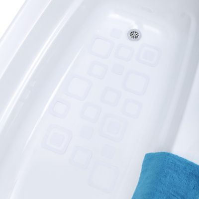 SlipX Solutions® 21-Count Adhesive Square Bath Treads in Clear