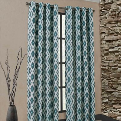Carsen Grommet 84-Inch Window Curtain Panel in Black