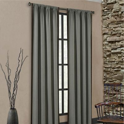Rollins Rod Pocket 84-Inch Window Curtain Panel in Tan