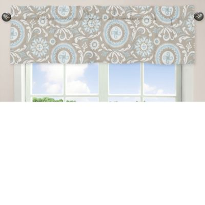 White Taupe Window Valance