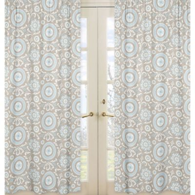 Sweet Jojo Designs Hayden Window Panel Pair in Medallion Print