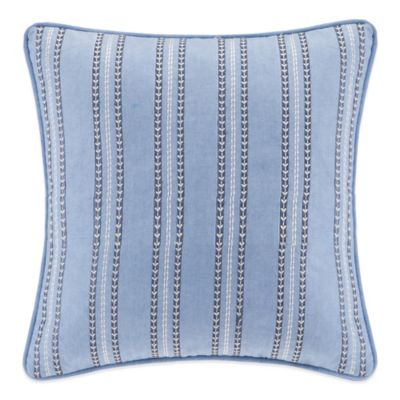 Echo Design Kamala Square Throw Pillow in Blue