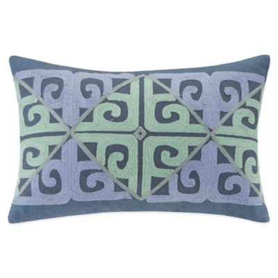 Echo Design™ Kamala Oblong Throw Pillow in Blue/Aqua