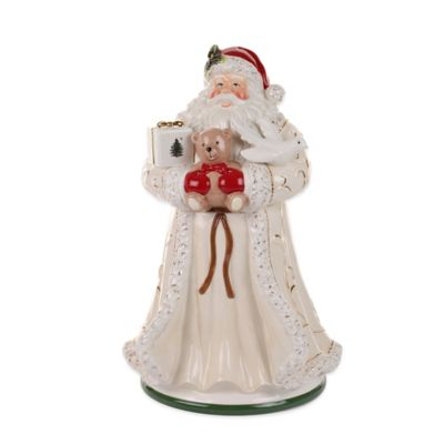 Spode® Christmas Tree Gold Santa Cookie Jar