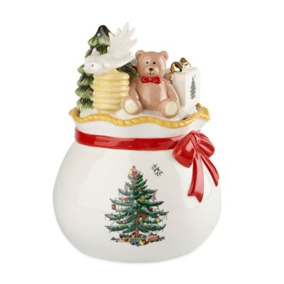 Spode® Christmas Tree Gold Round Covered Candy Box