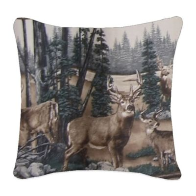 Whitetail Dreams Square Throw Pillow
