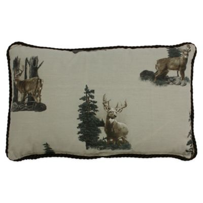 Whitetail Dreams Oblong Throw Pillow