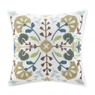 Harbor House™ Channing Embroidered Square Throw Pillow in Turtledove
