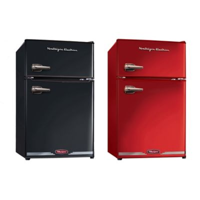 Nostalgia Electrics™ Compact Refrigerator and Freezer in Black