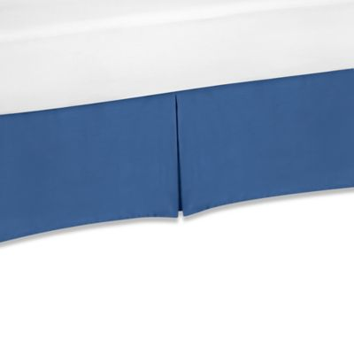 Sweet Jojo Designs Trellis King Bed Skirt in Blue