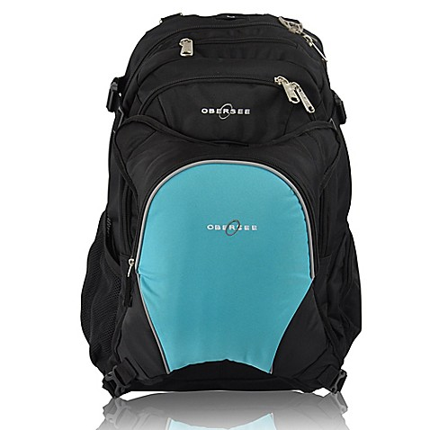 obersee bern diaper bag backpack with detachable cooler in turquoise. Black Bedroom Furniture Sets. Home Design Ideas