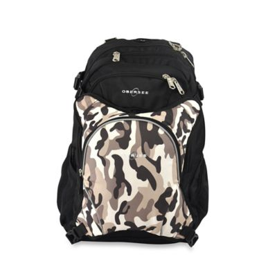 Obersee Bern Diaper Bag Backpack with Detachable Cooler in Camo