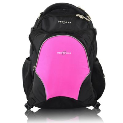 Obersee Oslo Diaper Bag Backpack with Detachable Cooler in Pink