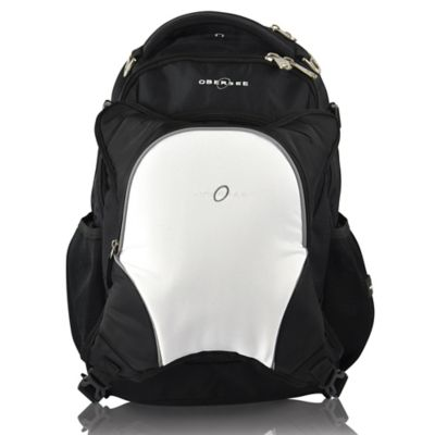 Obersee Olso Diaper Bag Backpack with Detachable Cooler in Black/White