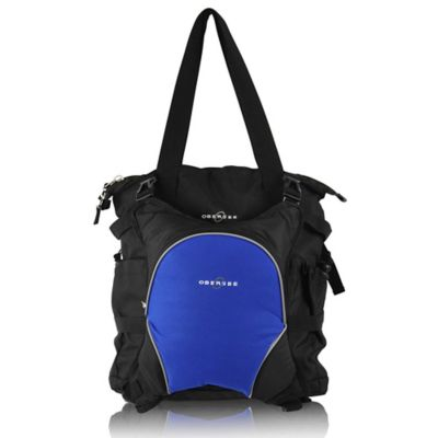 Obersee Innsbruck Diaper Bag Tote with Detachable Cooler in Black/Royal Blue