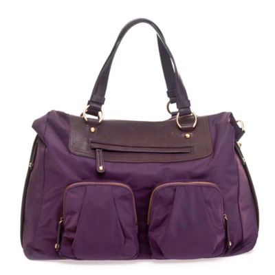 TWELVElittle Allure Convertible Satchel Diaper Bag in Plum