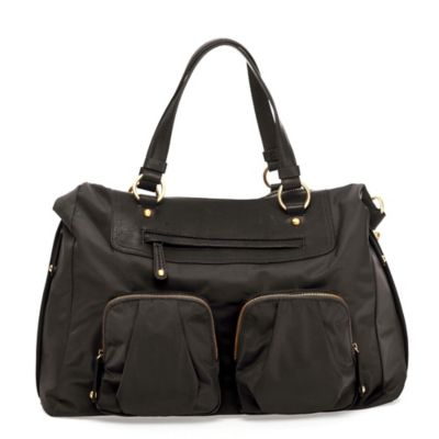 TWELVElittle Allure Convertible Satchel Diaper Bag in Black