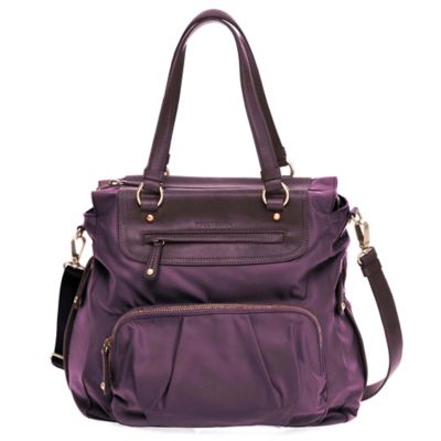 TWELVElittle Allure Tote Diaper Bag in Plum