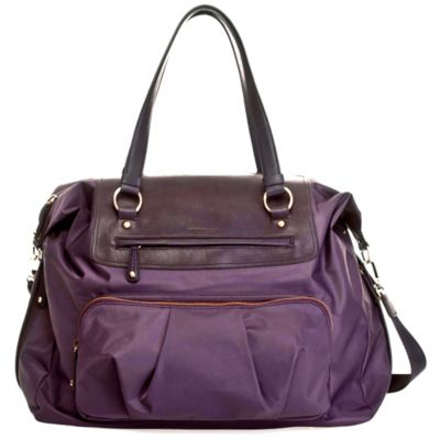TWELVElittle Allure Weekender Diaper Bag in Plum