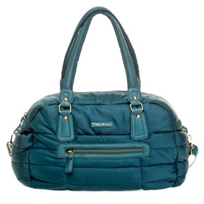 TWELVElittle Companion Satchel Diaper Bag in Teal
