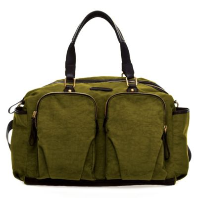 TWELVElittle Unisex Courage Satchel Diaper Bag in Olive