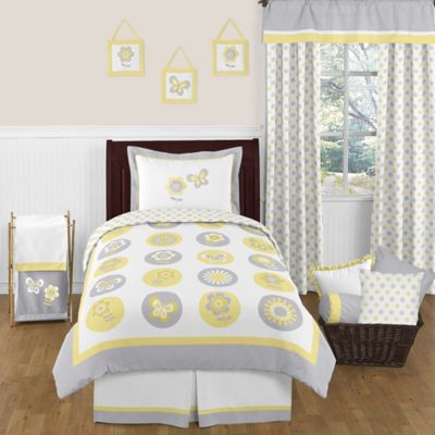 Sweet Jojo Designs Mod Garden 4-Piece Twin Bedding Set