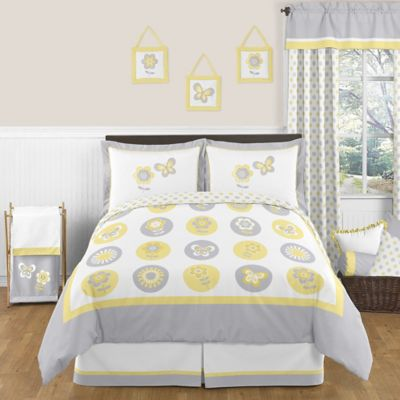 Sweet Jojo Designs Mod Garden 3-Piece Queen Bedding Set