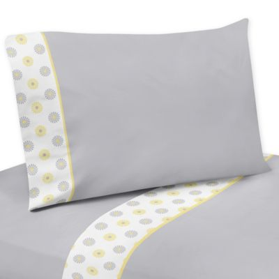 Sweet Jojo Designs Mod Garden Twin Sheet Set