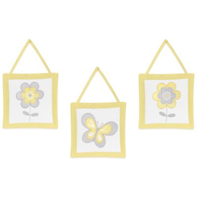 Sweet Jojo Designs Mod Garden 3-Piece Wall Hanging Set