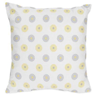 Sweet Jojo Designs Mod Garden Reversible Throw Pillow